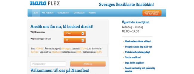 Snabblån upp till 10 000kr från Nanoflex